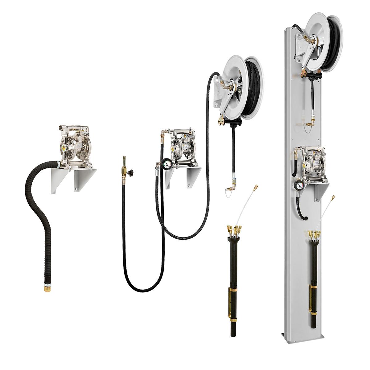 Servisni stubovi i vešalice za distribuciju fluida